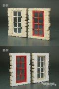 コバアニ模型工房[FS-020]1/35ヨーロッパの家の窓C(2組入)