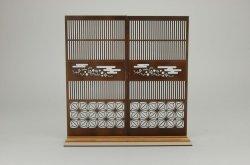 画像1: コバアニ模型工房[WZ-016]1/12 和柄つき格子戸2