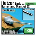 DEF.MODEL[DM35032]ヘッツァー 初期型 砲身&防盾セット 2(アカデミー用)