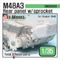 DEF.MODEL[DM35034]M48A3 リヤパネル/ スポロケットパーツセット(ドラゴンM48A3用)