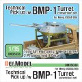 DEF.MODEL[DM35038]テクニカル ピック アップ/BMP砲身 コンバージョンセット(モンモデルVS004/005用)