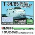 DEF.MODEL[DM35047]T-34/85 D-5T砲塔コンバージョンセット 後期(アカデミーT-34/85)