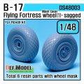 DEF.MODEL[DS48003]1/48 B-17F/G フライングフォートレス 自重変形タイヤ 1(レベルキット用1/48)
