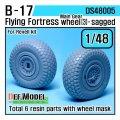 DEF.MODEL[DS48005]1/48 B-17F/G フライングフォートレス 自重変形タイヤ 3(レベルキット用1/48)