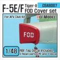 DEF.MODEL[DS48007]1/48 F-5E/F タイガーIIFOD カバーセット(AFVクラブ用1/48)