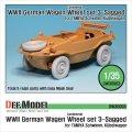 DEF.MODEL[DW30003]シュビムワーゲン/キューベルワーゲン コンチネンタル 自重変形タイヤ(タミヤ用)