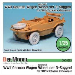 画像1: DEF.MODEL[DW30003]シュビムワーゲン/キューベルワーゲン コンチネンタル 自重変形タイヤ(タミヤ用)
