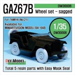 画像1: DEF.MODEL[DW30006]GAZ67B フィールドカー 自重変形タイヤ(タミヤ用)