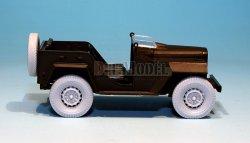 画像3: DEF.MODEL[DW30006]GAZ67B フィールドカー 自重変形タイヤ(タミヤ用)