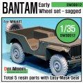 DEF.MODEL[DW30012]バンタム ジープ 初期型 自重変形タイヤ(ミニアート用)