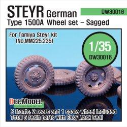 画像1: DEF.MODEL[DW30016]シュタイヤー 1500A 自重変形タイヤ(タミヤ用)