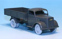 画像2: DEF.MODEL[DW30017]オペル ブリッツ 3t カーゴトラック 自重変形タイヤ(タミヤ/イタレリ用)