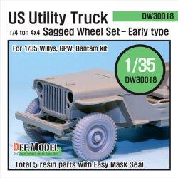画像1: DEF.MODEL[DW30018]ウィリス ジープ 初期型 自重変形タイヤ(トランぺッター)