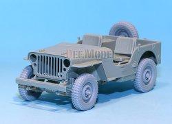 画像3: DEF.MODEL[DW30018]ウィリス ジープ 初期型 自重変形タイヤ(トランぺッター)