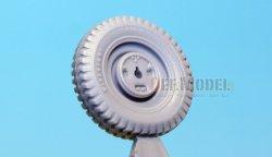 画像4: DEF.MODEL[DW30018]ウィリス ジープ 初期型 自重変形タイヤ(トランぺッター)