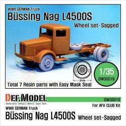 画像1: DEF.MODEL[DW30019]ビュッシング NAG L4500S トラック 自重変形タイヤ(AFVクラブ用)