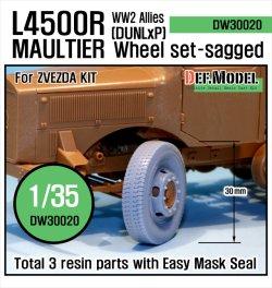 画像1: DEF.MODEL[DW30020]メルセデス L4500R マウルティア ダンロップ 自重変形タイヤ(ズべズダ用)