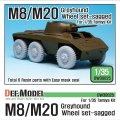 DEF.MODEL[DW30025]WW2 米 M8/M20 グレイハウンド 自重変形タイヤセット(タミヤ用)