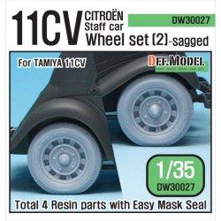 画像1: DEF.MODEL[DW30027]WW2 11CV スタッフカー 自重変形タイヤセット 2(タミヤ11CV用)
