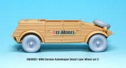 画像4: DEF.MODEL[DW30031]キューゲルワーゲン デザートホイールセット 3(タミヤ用)