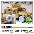 DEF.MODEL[DW35002A]M1151 ハンビー MT/R 自重変形タイヤ(アカデミー用)