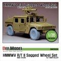 DEF.MODEL[DW35004A]M997/1046 ハンビー R/T 自重変形タイヤ(タミヤ用)