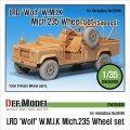 DEF.MODEL[DW35008]LRD ウルフ W.M.I.K. Mich.235 自重変形タイヤ(ホビーボス用)