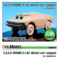 DEF.MODEL[DW35019]BRDM-2/3 LAV 自重変形タイヤ(ドラゴン用)