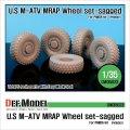DEF.MODEL[DW35023]U.S. M-ATV 自重変形タイヤ(パンダ用)