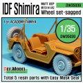 DEF.MODEL[DW35039]M151 シミラ 自重変形タイヤ(アカデミー用)