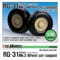 DEF.MODEL[DW35045]RG-31 Mk.3 装輪式兵員輸送車 自重変形タイヤ(キネティック用)