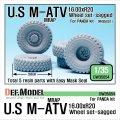 DEF.MODEL[DW35054]アメリカ M-ATV MRAP 自重変形タイヤ ビッグ(パンダ用)
