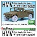 DEF.MODEL[DW35066]陸上自衛隊 HMV 自重変形タイヤセット(ファインモールド用)