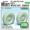 DEF.MODEL[DW35071]ドイツ マン milgl トラック エクストラ 自重変形タイヤセット 2個(レベルキット用