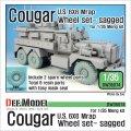 DEF.MODEL[DW35074]アメリカ クーガー 6X6 Mrap 自重変形タイヤ Set 2 スペアホイール(モンモデル用)
