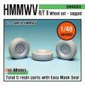 DEF.MODEL[DW48003]1/48 HMMWV R/T II 自重変形タイヤ(タミヤ用1/48)