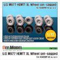 DEF.MODEL[DW72001]1/72 M977 HEMETT XL 自重変形タイヤ(アカデミー用1/72)