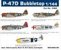 エデュアルド [EDU4464]1/144 P-47Dバブルトップスーパー44