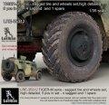 Live Resin[LRE35312]1/35  現用露 ティグルM装甲車用 自重変形タイヤ(1両分)