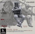 Live Resin[LRM35056]1/35 MH-6 SOF Helicopter Assault Team Operator straped to external personnel pods (EPS)  - Figure 5, correct to Kitty Hawk KH50004 MH-6 Little Bird