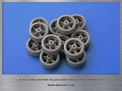 画像1: Miniarm[B35182]1/35 WWII 米 M3(リー/グラント)中戦車用溶接型転輪 (タコム用)