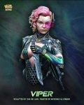 ナッツプラネット[NP-B036]1/12 SF 胸像 電磁ナイフを構える女戦闘員「バイパー」