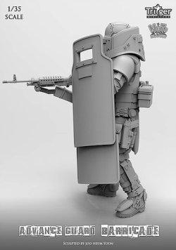 画像2: ナッツプラネット[T35002]1/35 アドバンスガード 防弾盾を抱え戦うガードナー