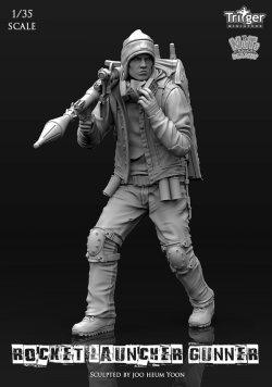 画像1: ナッツプラネット[T35007]1/35 RPGを構える男