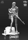 ナッツプラネット[T35016]1/35 狙撃ライフルを持つサイボーグ少女 ベルフォード