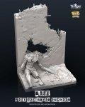 ナッツプラネット[TA35003]1/35 ネストデストロイヤーエンジニア用展示ベース 貫通弾で破壊した壁と化物