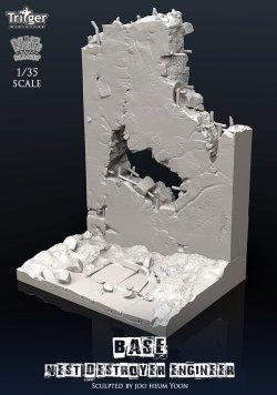 画像4: ナッツプラネット[TA35003]1/35 ネストデストロイヤーエンジニア用展示ベース 貫通弾で破壊した壁と化物