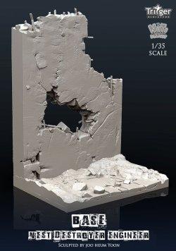 画像5: ナッツプラネット[TA35003]1/35 ネストデストロイヤーエンジニア用展示ベース 貫通弾で破壊した壁と化物