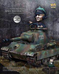 画像1: ナッツプラネット[NP-V01]SDサイズ WWII独 コミカルタンク パンサーG型