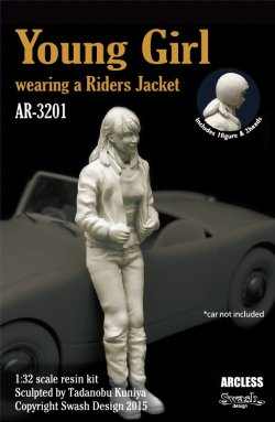 画像1: SWASH DESIGN[AR-3201]Young Girl wearing a Riders Jacket